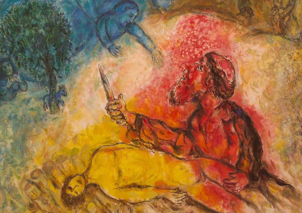 Marc Chagall - le sacrifice de Isaac