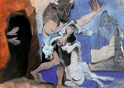 Picasso minotaur co cavallo morto