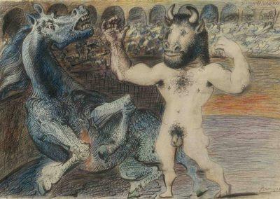 Picasso minotauro e cavallo ferito